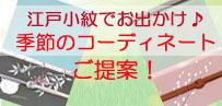 江戸小紋のコーディネートご紹介