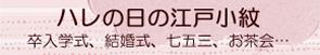 卒業式、入学式、結婚式、七五三、お茶会に江戸小紋